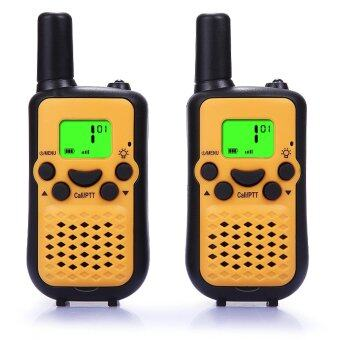 Malaysia Prices Walkie Talkies, Wireless Interphone 22 Channel FRS/GMRS 2 Way Radio 2 miles (up to 3 Miles) UHF Handheld Walkie Talkies for Kids Use (1 pair)(Yellow)