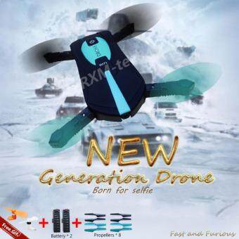 Malaysia Prices 2017 New Cool Design 2.4GHZ RXM JY018 Pocket Mini Selfie Drone/Quadcopter with Wifi FPV HD Camera Phone Control 4CH 6Axis Headless Mode RC Helicopter Automatic Hover Competitive with JJRC H37 Pocket Drone (Black+Green) (Free Gift)