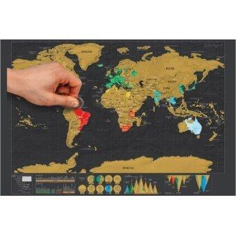 Malaysia Prices 1Pc Deluxe Mini Scratch World Map Luxury Gift Edition Of Trumpet42*30Cm Travel Journal Vacation Necessary Creative Gift For Kid
