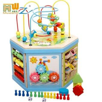 Malaysia Prices Wooden Around Beads Wire Maze Colorful Educational Toy Treasure Chest