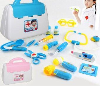 Malaysia Prices Medical Doctor Kit Toy Bag Kids Nurse Play Set Doc Pretend Case Gift Child Blue