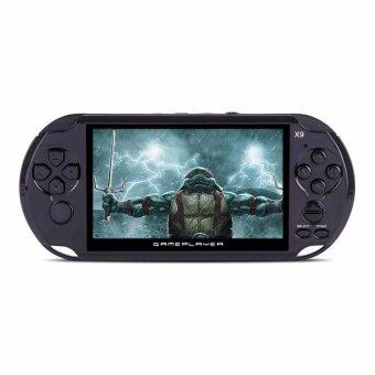 Malaysia Prices Coolboy X9 5.0 Inch Handheld Game Player Support TV Output With MP3/Movie Camera Handheld Game Console - Black