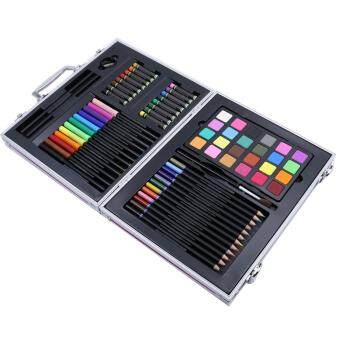 Malaysia Prices Portable Kids Art Supplies Set Drawing Painting Pencil Watercolor Pen Crayon Kit with Aluminium Storage Box for Children Painting Creation Gift