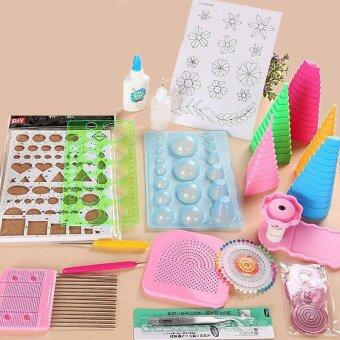 Malaysia Prices DIY Paper Quilling Tools Set Template Tweezer Pins Slotted Tool Kit Handmade Paper Card Crafts Decorating Tools Artwork 19Pcs /set