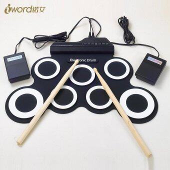 Malaysia Prices Electronic Drums Drum Set Hand-rolled USB Portable Electronic Drum Silicone Folding Electric Drum Drum Practice Drums