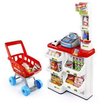 Malaysia Prices Mini Simulation Supermarket Stores Kids Children Role Play Toy Set (Red)