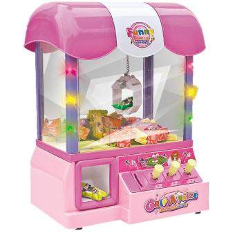 Malaysia Prices Electronic Claw Game Candy Grabber Machine Claw Arcade Game Operated light & Music-Pink