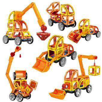 Malaysia Prices Asuwish 60Pcs/set Magnetic Designer Big Size Building Blocks Educational Toys Kids 3D DIY Plastic ABS Construction Set Model