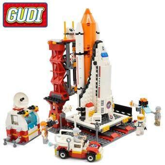 Malaysia Prices GUDI City Spaceport Space Shuttle Blocks 679pcs Bricks Building Block Sets Educational Toys For Children