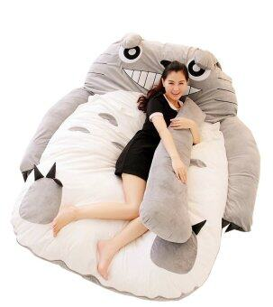 Malaysia Prices Readygo Totoro Sofa Tatami Bed 1.4m x 2.0m Free 2 Totoro Pillow and 1 Tail Baby Crawling (Grey)