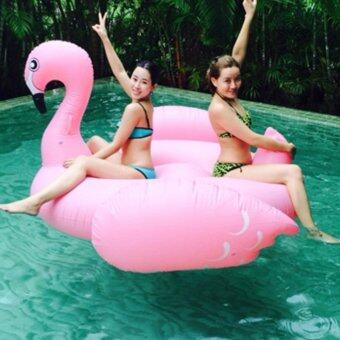 Malaysia Prices 190cm Giant Swan PVC Inflatable Pink Flamingo Ride-On Pool Floating Toy Swim Ring for Adult and Child