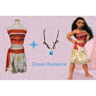 Malaysia Prices 2017 New Style Ocean Romance Cos Moana Cosplay Costume Size 110CM