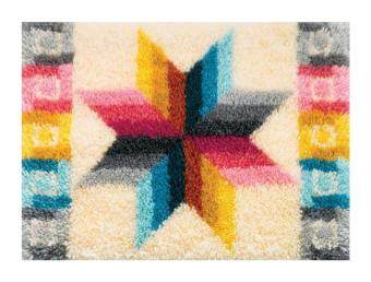 Malaysia Prices M C G Textiles Latch Hook Kit 70cm x 50cm Quilted Star