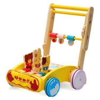 Malaysia Prices Wooden Toys Toy Kids Baby Children Colorful Trolley Walker