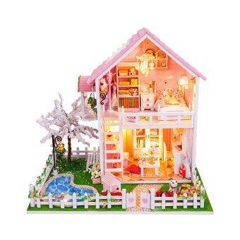 Malaysia Prices Sakura Trees with Light/Anti-dust cover DIY Miniature Doll House