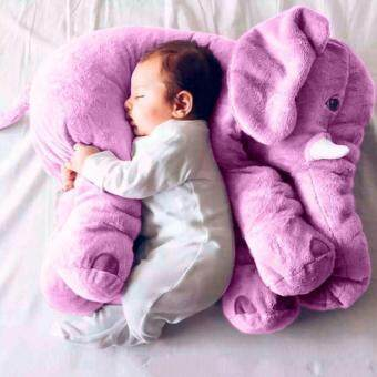 Malaysia Prices Long Nose Elephant Pillow Soft Plush Stuff Dolls Lumbar Body Pillowtoy For Baby Kids Children-Purple