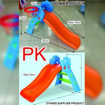 Malaysia Prices TOYS STREET 2 IN 1 INDOOR OUTDOOR PLAYGROUND SLIDE & BASKETBALL SET