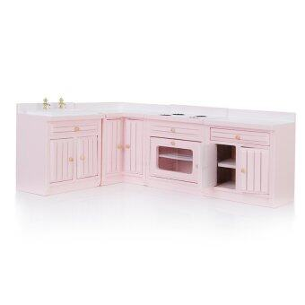 Malaysia Prices S & F Dollhouse Miniature 1/12 Furniture Wooden Kitchen Combination Cabinet Set