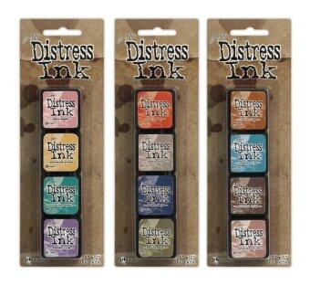 Malaysia Prices Ranger Tim Holtz Distress Mini Ink Pad Kits #4, #5 and #6 Bundle