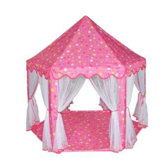 Malaysia Prices Large Princess Castle Tent Baby Portable Indoor Outdoor Play House(Pink)