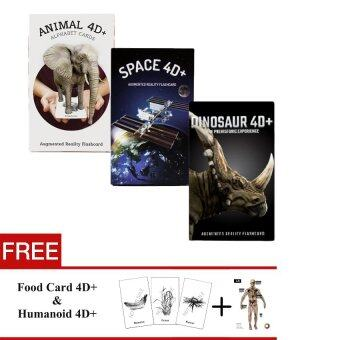 Malaysia Prices [Super Value Set] Flash Card Animal & Space & Dinosaur 4D by Octagon Studio