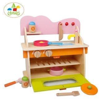 Malaysia Prices Wooden Kitchen Playsets Gas Cooker Pretend Play Simulate Toys Gifts for Children