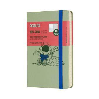 Malaysia Prices Moleskine 2017-2018 Peanuts Limited Edition Weekly Planner Notebook, 18 Month, Pocket, Green, Hard Cover(9 x 14 CM)