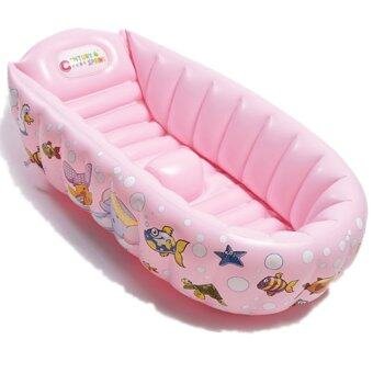 inflatable baby bath tub pink lazada malaysia. Black Bedroom Furniture Sets. Home Design Ideas
