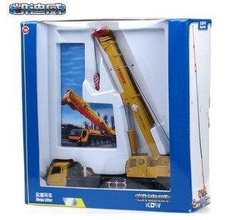 KDW metal alloy engineering car crane model car models