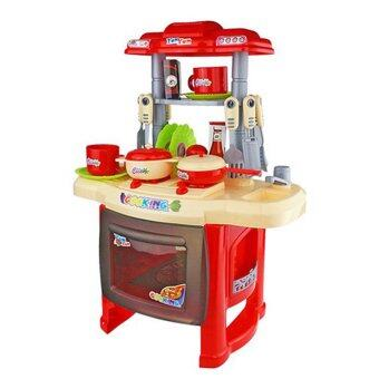 Kitchen cooking toy play set for children and parents red for Kitchen set lazada