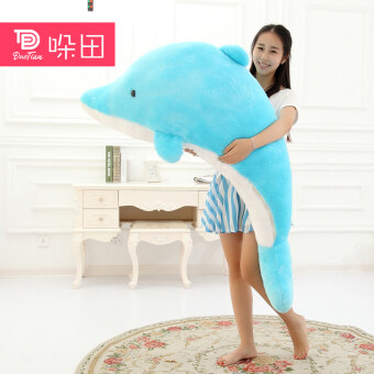 Large dolphin plush toy doll birthday gift pillow