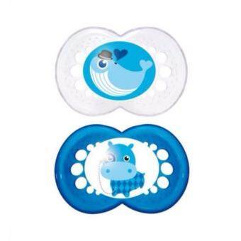 MAM Original Pacifier Soother - Whale Hippo (Twin Pack 6m+)