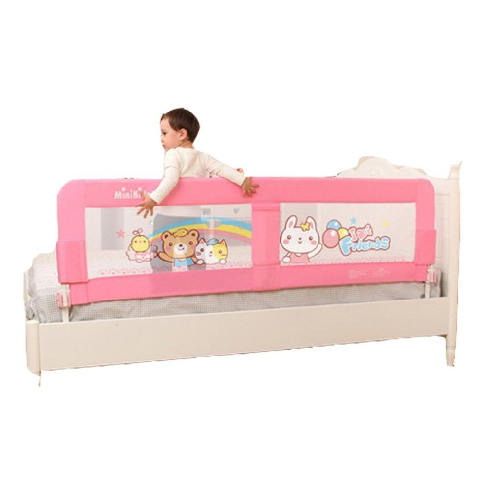 Baby bed rails - Minikids Baby Bed Rails Infant Bed Guard Rail Fence 1 5m Pink Lazada Malaysia