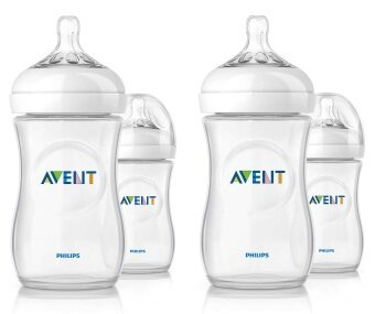 Philips AVENT Natural Bottles 9oz/260ml Twin Pack+Twin Pack (4bottles)