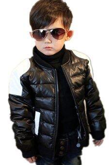 PU Leather Kids Boy Winter Jacket D080 - Black | Lazada Malaysia
