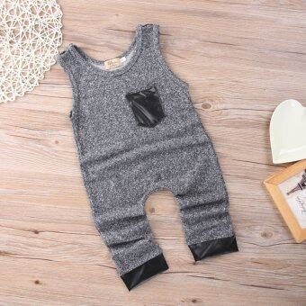 Sleeveless Kids Boy Girl Romper Jumpsuit Bodysuit Outfits HaremPants Clothes