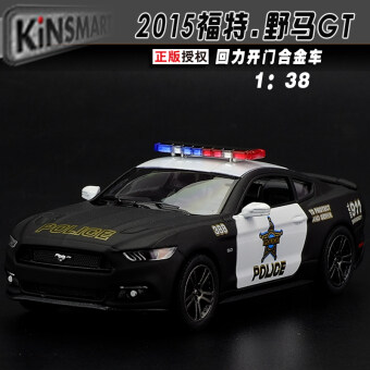 Soft-world Mustang GT Warrior alloy toy car police car