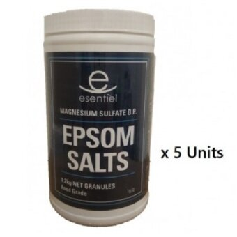 Malaysia Prices [5 Bottle] Epsom Salt 1.2kg