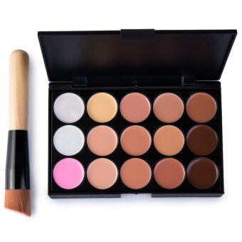 Makeup Concealer Palette 15 Colors Set + Makeup Brush