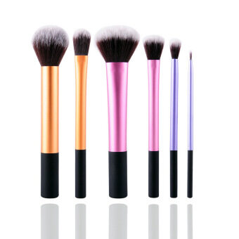 New 6Pcs Professional Beginner Makeup Brush Cosmetic Brushes RealMakeup Powder Brushes Techniques Set Kit