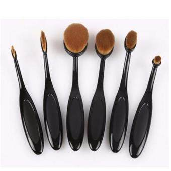 Sinma Professional 6pcs Oval Curve Toothbrush Foundation Make Up Brushes Beauty Cosmetics Tool