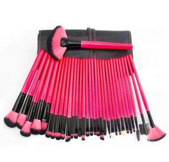 SUPERLADY Profesasional 32Pcs Cosmetic Makeup Make Up Brush Brushes Set Kit Tools Super Soft Pouch Bag Case Red