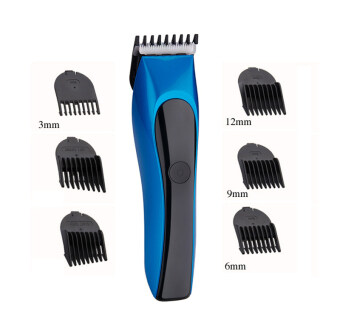 Waterproof Cordless Soundless adult Children Baby Electric HairTrimmers Hair Clipper Washable(blue)