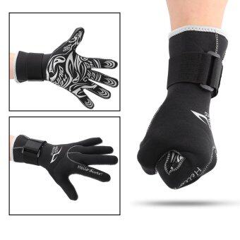 1 Pair/Set 3mm Diving Neoprene Snorkeling Water Sports Gloves M