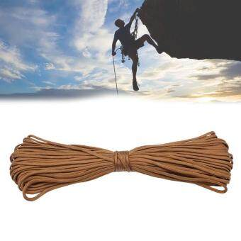 100 Ft Brown 7 Strand Core 550 Paracord Parachute Cord LanyardOutdoor Cord
