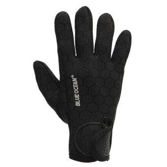 1.5mm Neoprene Diving Scuba Fishing Water Sport Textured PalmsGloves Black M