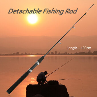 1m 2 Sections Solid Fishing Rod Ice Fishing Rod Boat Rod PoleFishing Tackle Fishing Accessory