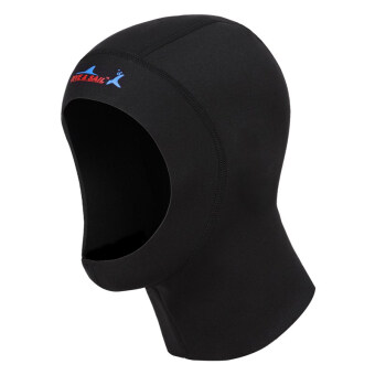 1mm Diving cap Neoprene Snorkeling Scuba Diving Hat Diving HoodDiver Cap (Black)-L
