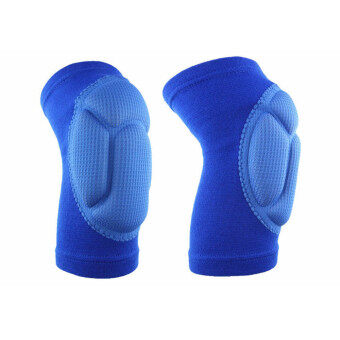 2 Piece Set of Outdoor Extreme Sports Knee Pads Protect FootballCycling Knee Protector Blue