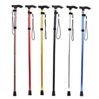 Adjustable Foldable Walking Trekking Hiking Stick Cane CrutchAlpenstock